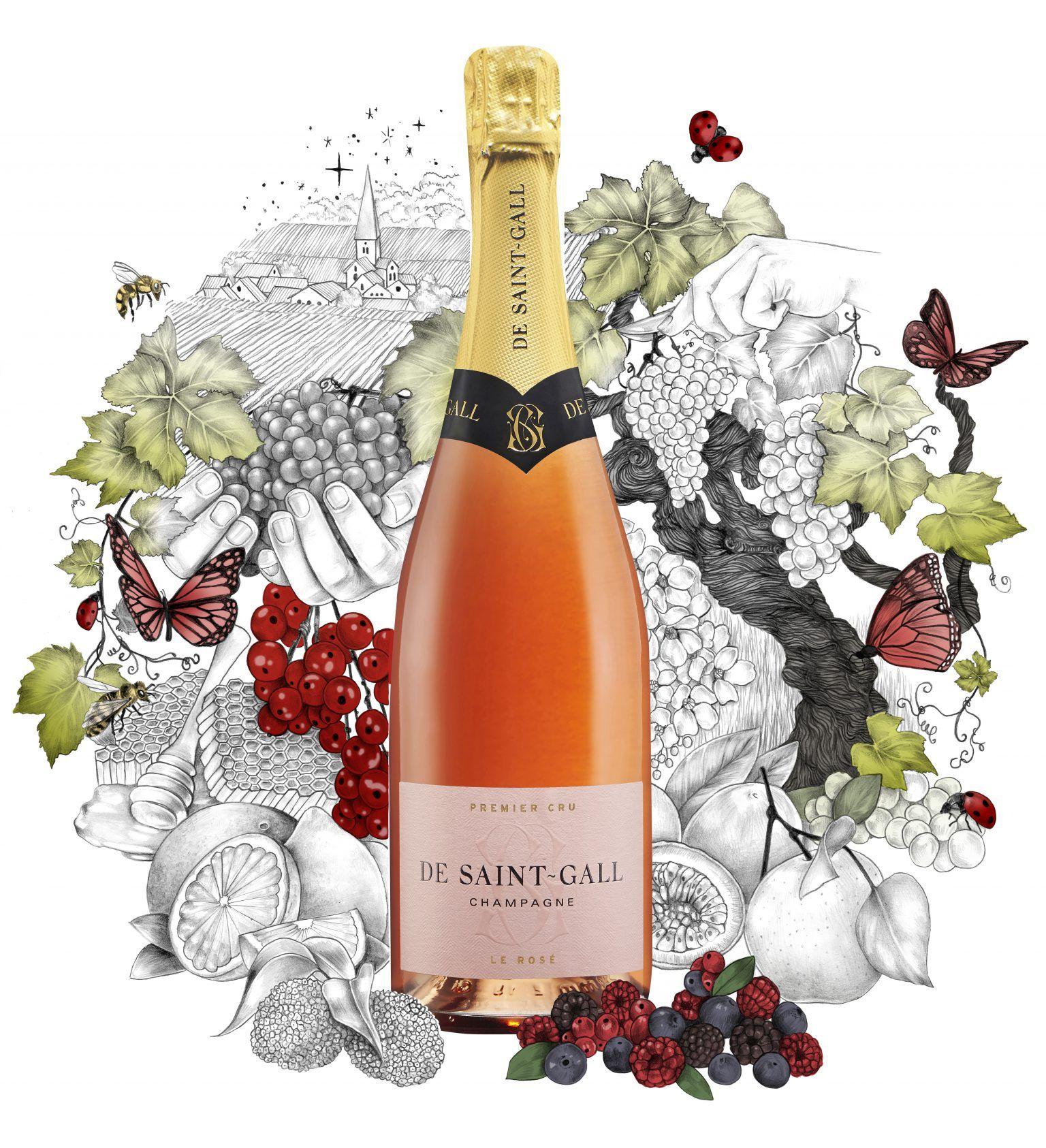 Champagne Rosé Premier Cru Pinot Noir