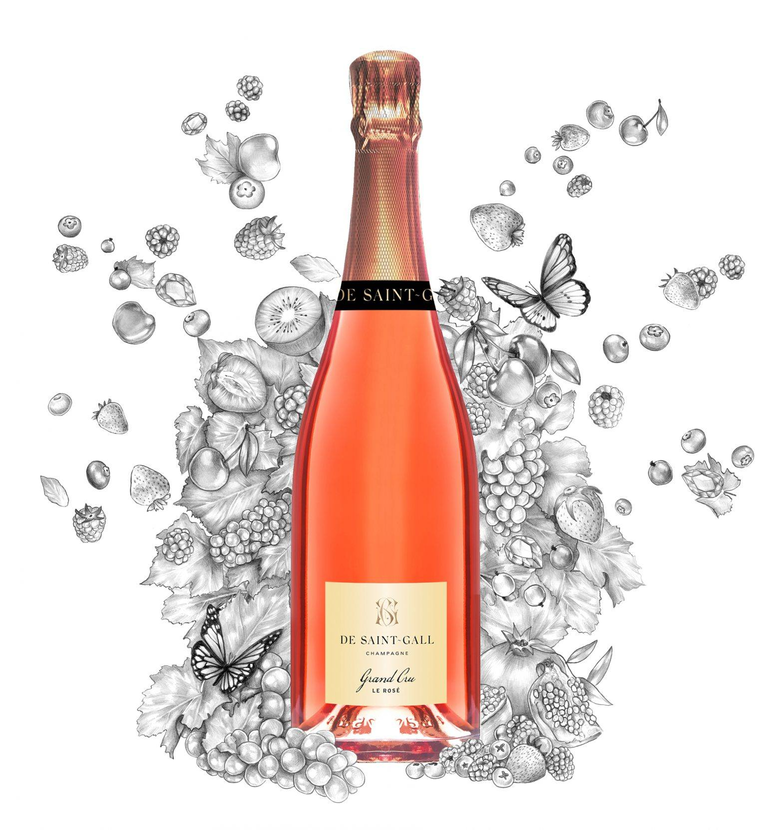 Champagne Rosé Grand cru