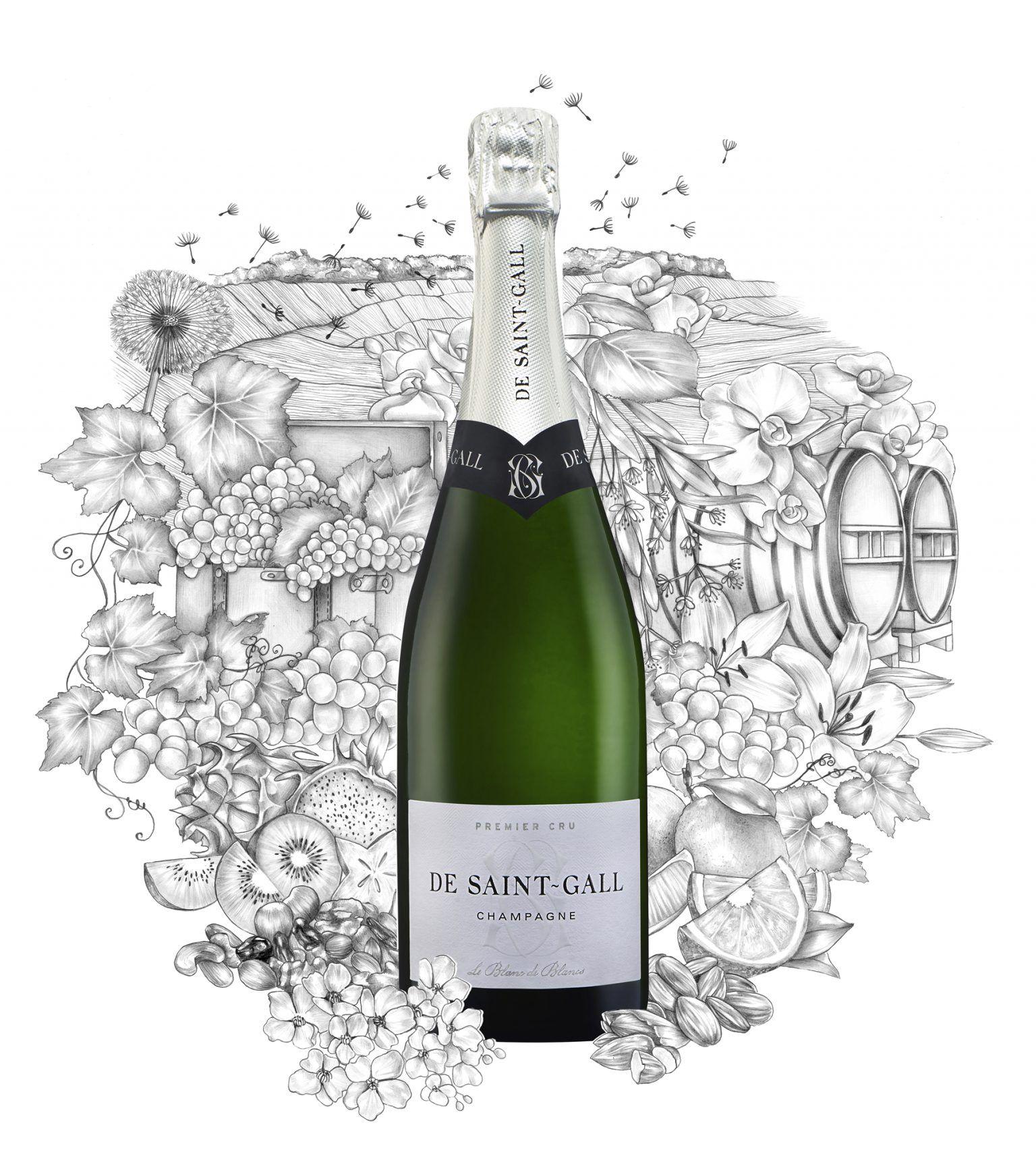 Champagne Blanc de Blancs Chardonnay De Saint-Gall