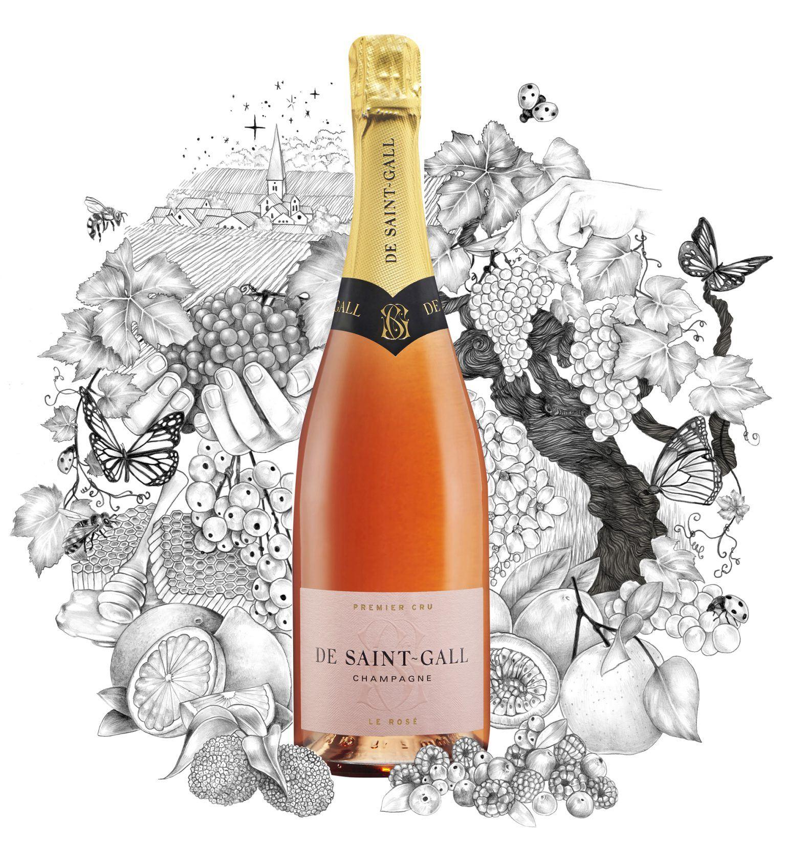 Champagne Rosé Premier Cru De Saint-Gall